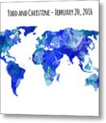 Custom World Map Metal Print
