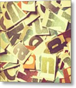Cut Copy Metal Print