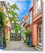 Cute And Colorful European Houses Metal Print