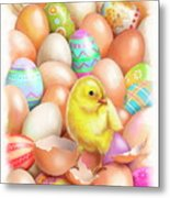 Cute Easter Chick Metal Print