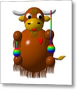 Cute Yak With Yo Yos Metal Print