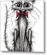 Cuthbert The Cat Metal Print