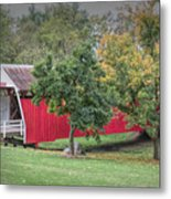 Cutler-donahoe Covered Bridge Metal Print