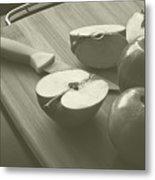 Cutting Apples Metal Print