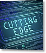 Cutting Edge Concept. Metal Print