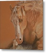 Cutting Horse Metal Print