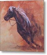 Cutting Horse I Metal Print