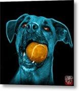 Cyan Boxer Mix Dog Art - 8173 - Bb Metal Print