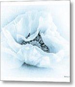 Cyanotype Poppy Metal Print