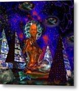 Cybergal Temple Metal Print