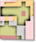 Cyberstructure 8 Metal Print by Eikoni Images