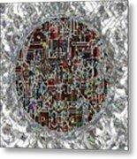 Cyborg Heart Metal Print