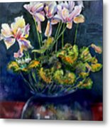 Cyclamen In A Vase Metal Print
