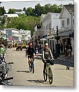 Cycling The Island Metal Print