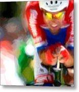 Cyclist Three Metal Print