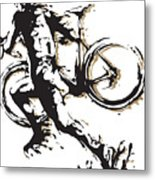 Cyclocross Poster1 Metal Print
