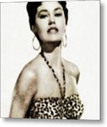 Cyd Charisse, Actress And Dancer Metal Print