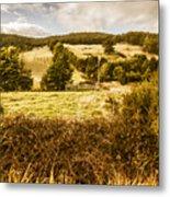 Cygnet Rustic Farming Fields Metal Print