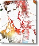 Cyndi Lauper Watercolor Metal Print