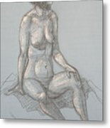 Cynthia Seated From Side Metal Print