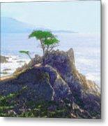 Cypress At Carmel Metal Print