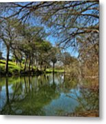 Cypress Bend Park Reflections Metal Print