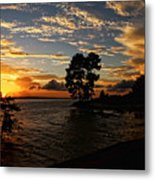 Cypress Bend Resort Sunset Metal Print