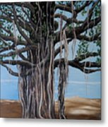 Cypress On The Shore  Metal Print