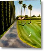 Cypress Palms Metal Print