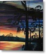 Cypress Sunset Metal Print