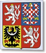 Czech Republic Coat Of Arms Metal Print
