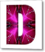 d dd ddd Alpha Art on Shirts alphabets initials   shirts jersey t-shirts v-neck by NavinJoshi Metal Print