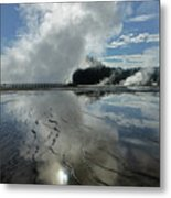 D09130-dc Cloud And Steam Reflect Metal Print