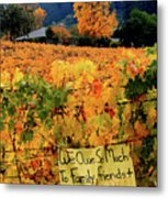 D8b6314 Autumn At Jack London Vinyard With Thanks To Firefighters Ca Metal Print