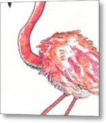 Da Flamingo Metal Print