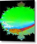 Da Mountain Sail In Fractal Metal Print