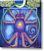Da Vinci Cat Metal Print