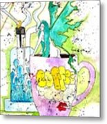 Dabs And Coffee  Metal Print