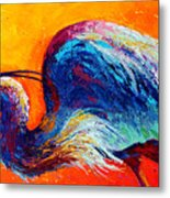 Daddy Long Legs - Great Blue Heron Metal Print by Marion Rose
