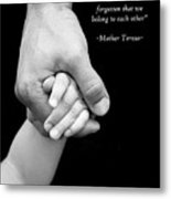 Daddy's Hand Metal Print