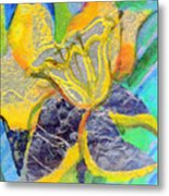 Daffodil Abstract Metal Print