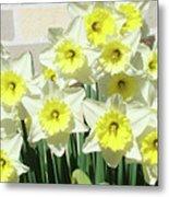 Daffodil Bouquet Spring Flower Garden Baslee Troutman Metal Print