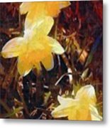 Daffs Gone Goth Metal Print