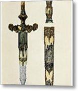 Dagger And Sheath Metal Print