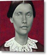 Daguerreotype Lady Detail Metal Print