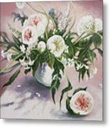 Dahlia Vase  Metal Print