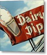 Dairy Dip Metal Print