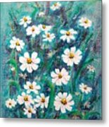 Daisies Golden Eyed Metal Print