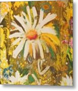 Daisies In The Wind Vii Metal Print