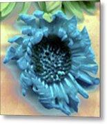 Daisy Blue Metal Print